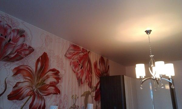 Альбом: Белый натяжной матовый потолок. Фото: 276