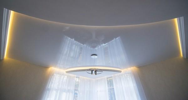 Альбом: Глянцевый натяжной, белый потолок, 15 кв.м.. Фото: 207