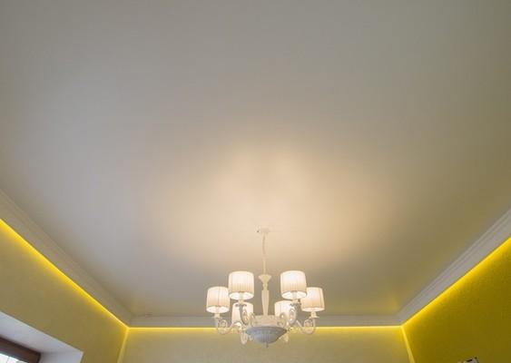 Альбом: Парящий натяжной потолок со светодиодной подсветкой, 18 кв.м.. Фото: 275