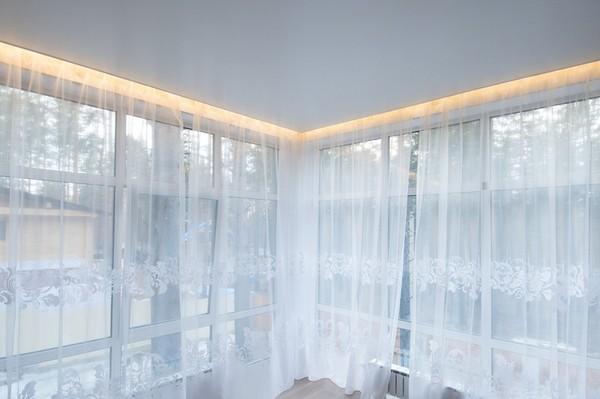 Альбом: Натяжной потолок со светодиодной подсветкой, сатин. Фото: 268