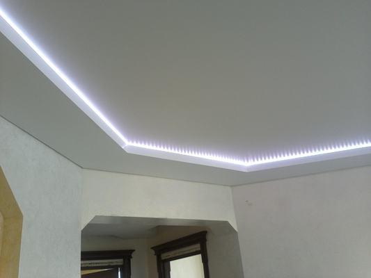 Альбом: Двухуровней потолок со светодиодной подсветкой. Фото: 217